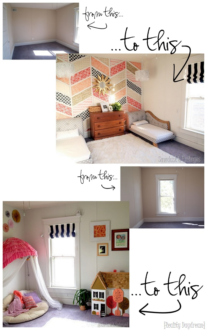 Little Girls' Room Transformation Makeover {Reality Daydream}