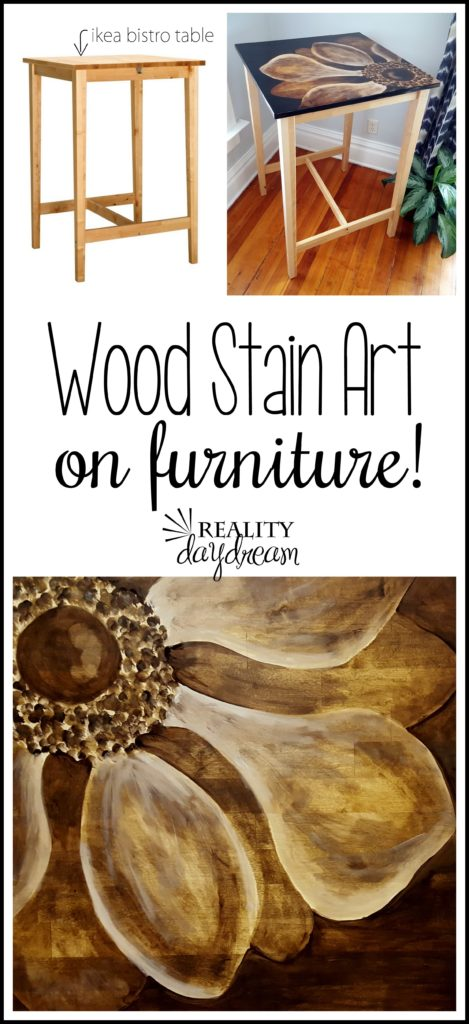 Shading with Wood Stain - an IKEA hack furniture makeover! {Reality Daydream}