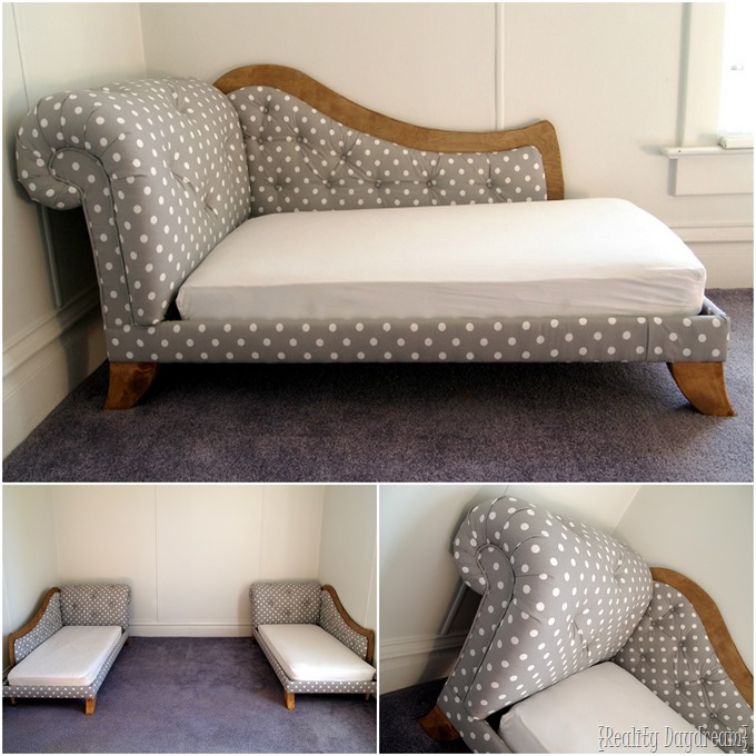 Toddler Bed Fainting Couch ...little girl room reveal! {Reality Daydream} #twins