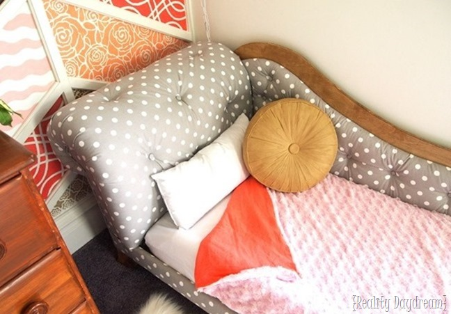 Toddler Bed Fainting Couch... using a crib mattress! {Reality Daydream}