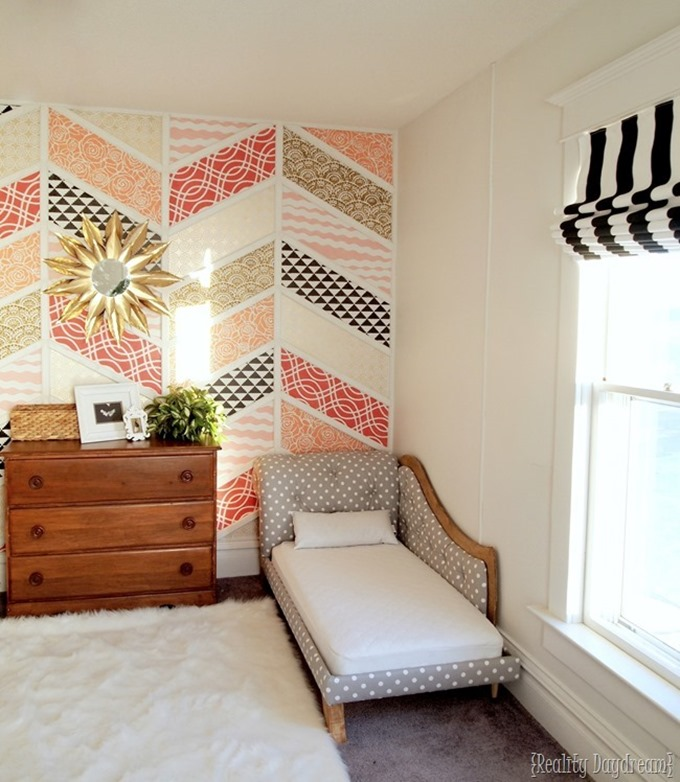 Twins' Room makeover - DIY Roman Shades using existing mini blinds! {Reality Daydream}