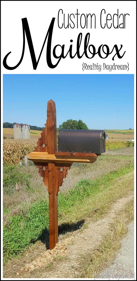 Beautiful Custom Cedar Mailbox with Corbels {Reality Daydream}