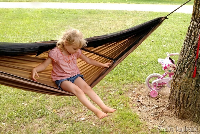 Della in the hammock {Reality daydream}