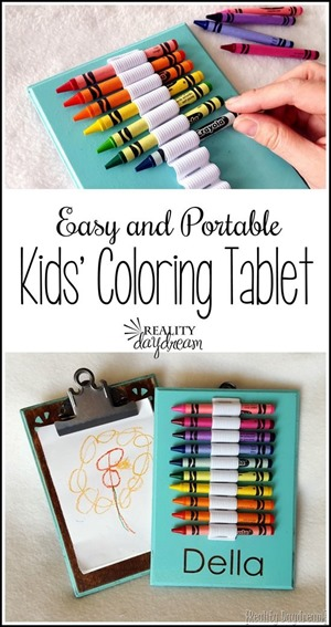 Easy and Portable Kids' Coloring Tablet! {Reality Daydream}
