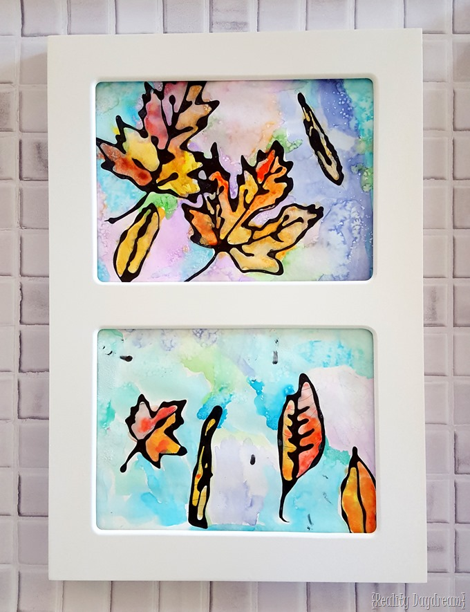 'Falling Leaves' Watercolor Kids Craft Idea {Reality Daydream}