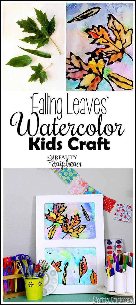 Fun Watercolor Kids Craft... inspired by real leaves from your yard! {Reality Daydream}