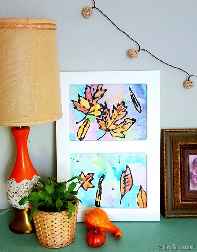 Kids art and craft ideas, and a darling way to display them! {Reality Daydream}