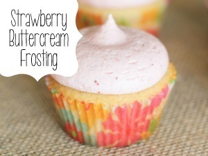 Vanilla Cupcakes with Strawberry Vanilla Frosting! {Reality Daydream}