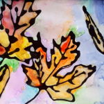 'Falling Leaves' Watercolor Kids Craft