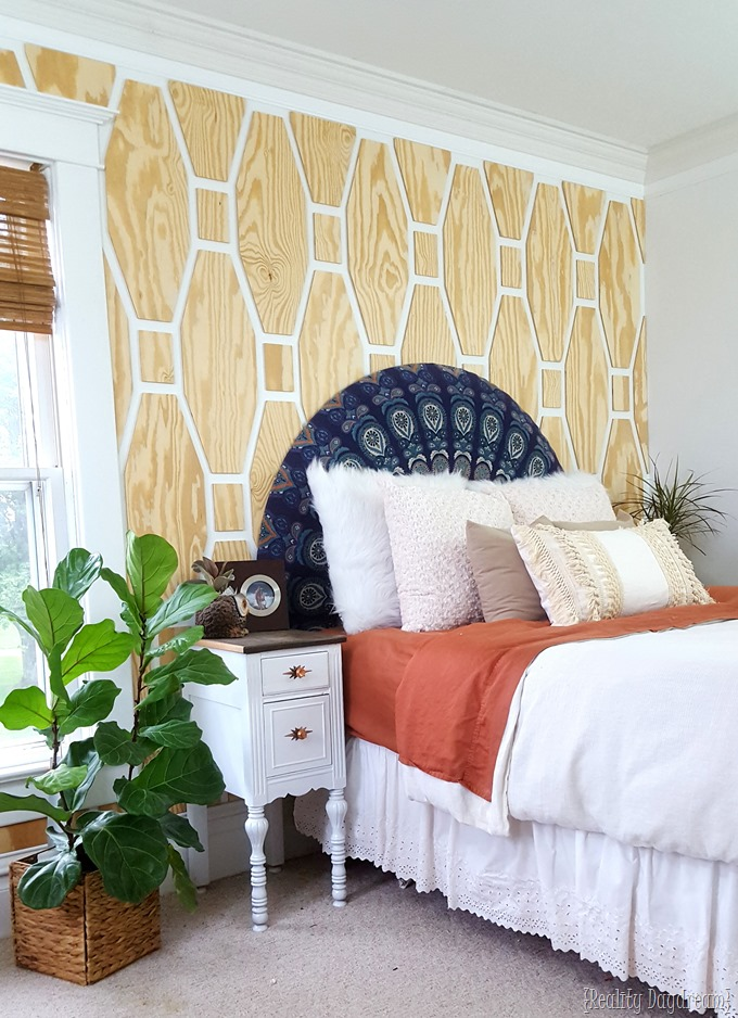 Boho Bedroom makeover with this tutorial for Fringe Tassle Pillow DIY!