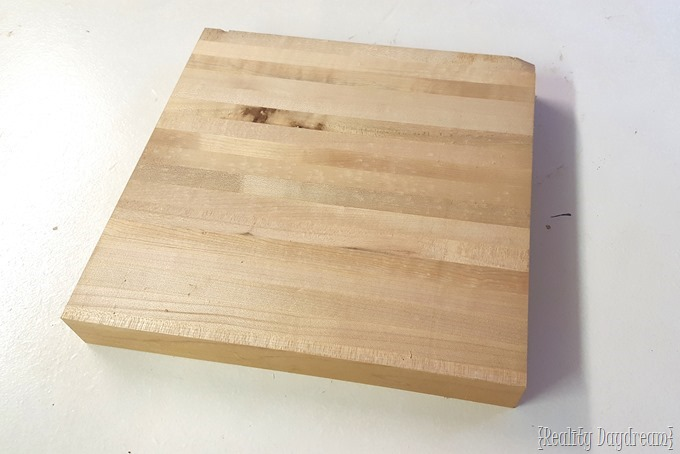 Butcher Block Cutting Board ...repurposed into a TRIVET! {Reality Daydream}
