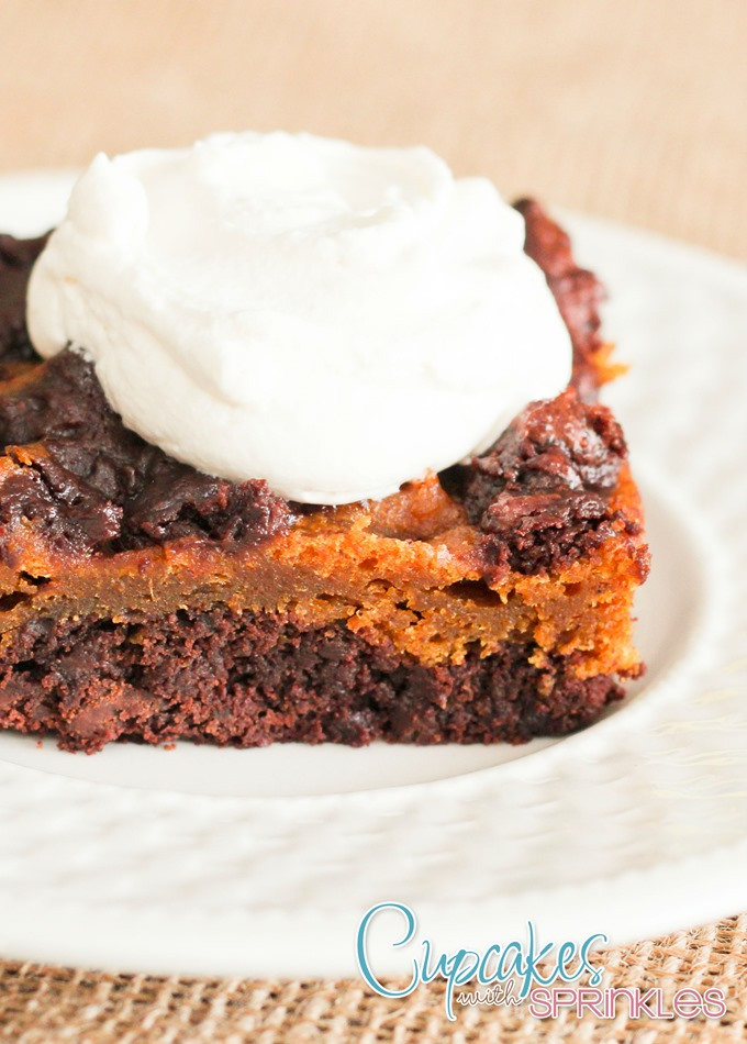 Chewy and AMAZING Pumpkin Brownies! Yes please!