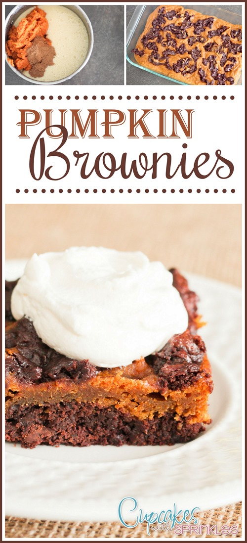 Chewy and delicious Pumpkin Brownies! These are a showstopper!