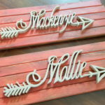 Personalized Wooden Arrow Name Plaques... completely customizable! Tutorial @ Reality Daydream