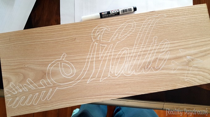 DIY Custom Name Plaque... from wood! Tutorial on Reality Daydream