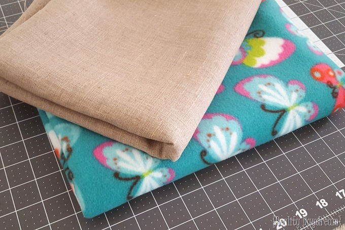Fleece and linen fabric for hooded poncho shawl {Reality Daydream}