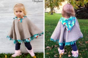 Fleece-lined Hooded Carseat Poncho