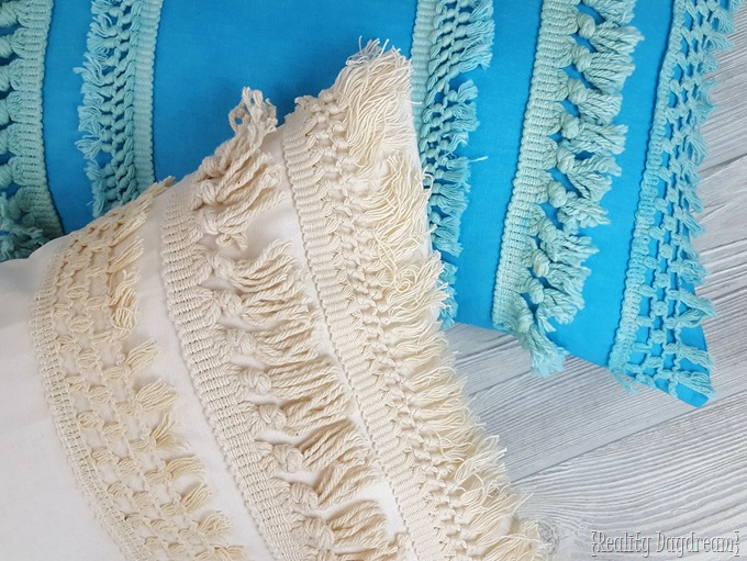 Tassel Fringe Macrame DIY pillow covers