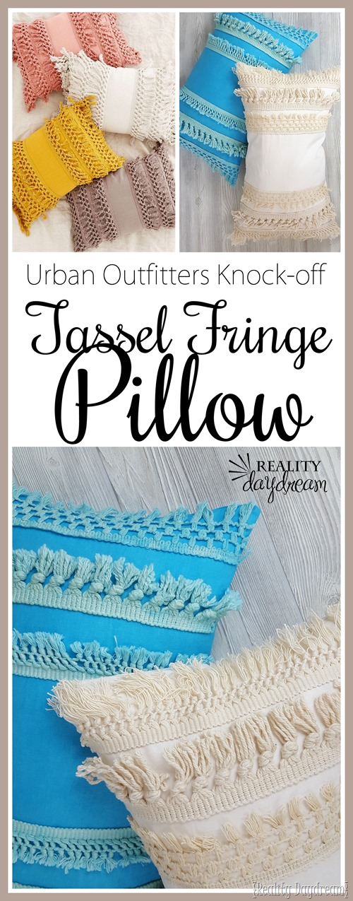 These DIY Tassel Fringe Pillows are a perfect knock-off from Urban Outfitters' version!