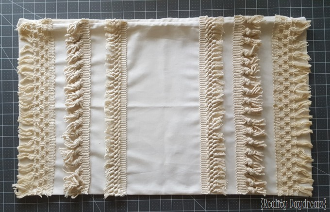 macrame fringe pillow cover tutorial using tassel trim! Making Decorative Pillow Covers