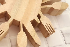 Butcher Block 'Utensil' Trivet