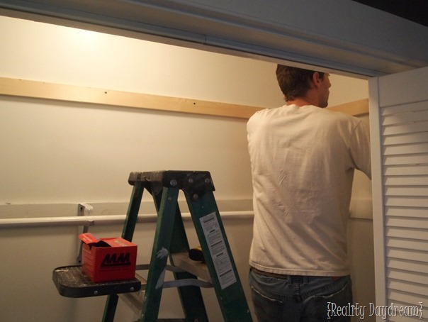 Adding More Shelves To Our Builder Basic Closet {Reality Daydream}