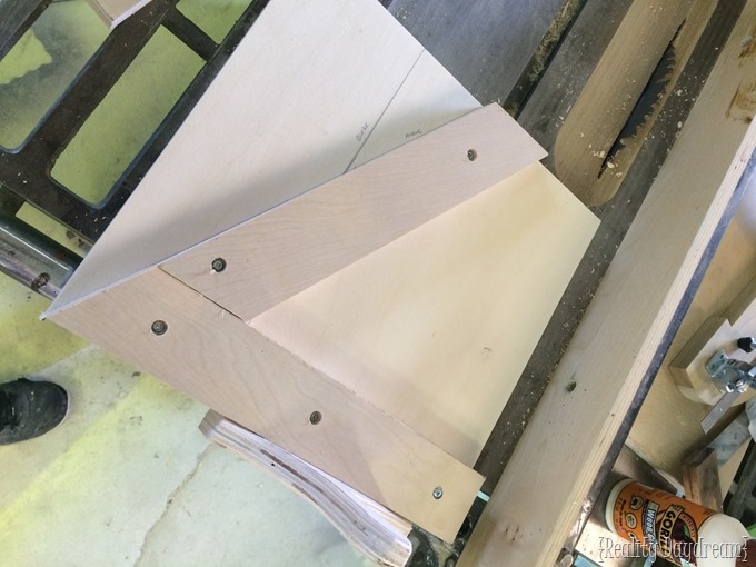 Angle jig for cutting perfect triangles!