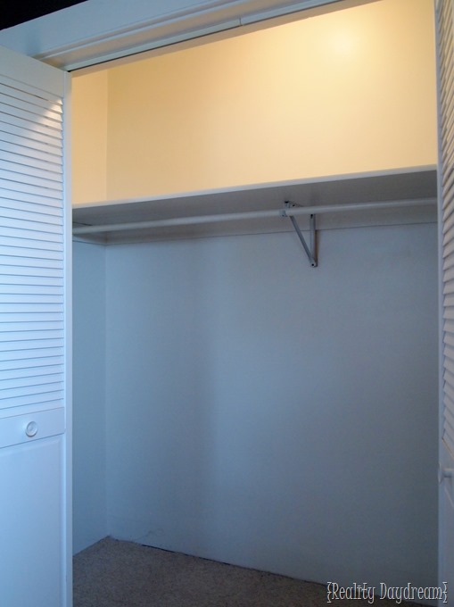 BEFORE Shot Of Our Builder Basic Closet With SO MUCH WASTED SPACE! {Reality