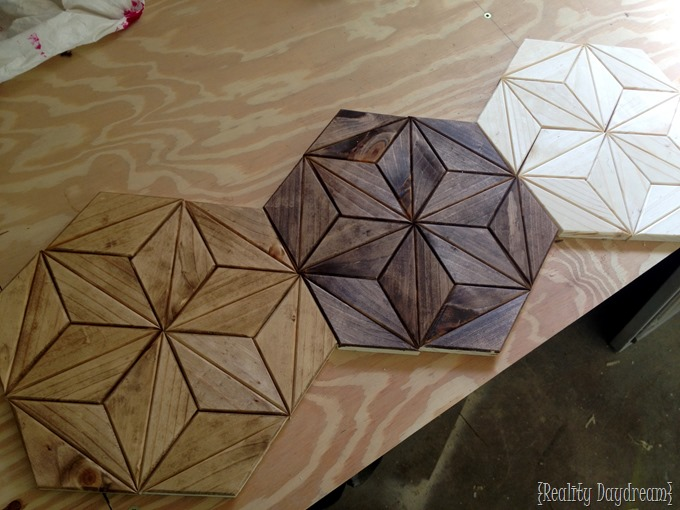 Geometric wooden artwork