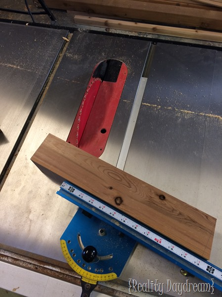 Cut the legs for the Tailgate Bench.