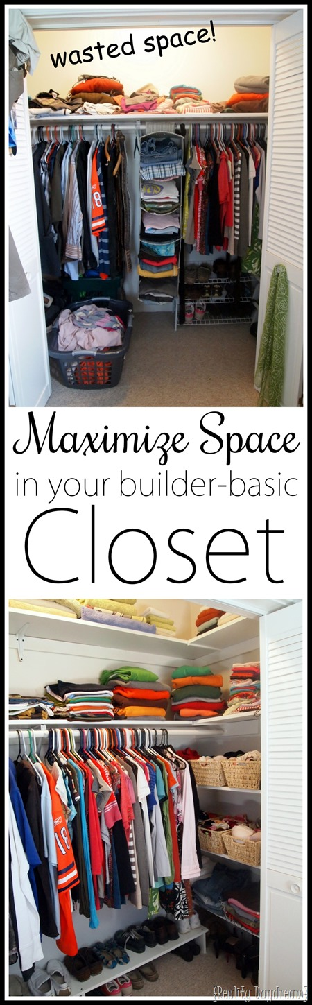 Maximize Closet Space In Your Builder Basic Closet... By Adding Custom DIY  Shelves