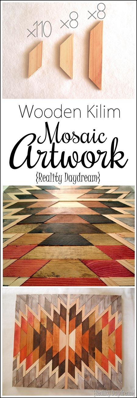 TUTORIAL on how to make this detailed Wooden Kilim Mosaic Art! {Reality Daydream}