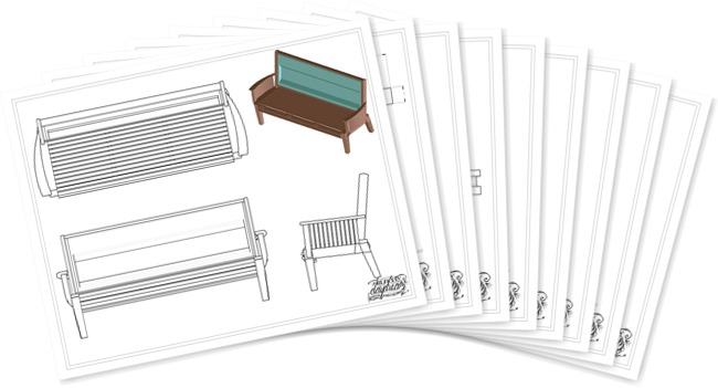 View album for instructions to make your own Tailgate Bench!