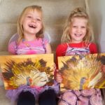 Kids Craft: Thanksgiving Turkey Finger painting with Unicorn Spit