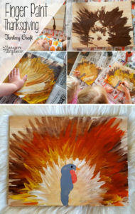 Thanksgiving Turkey Kids craft with FInger Paint! {Reality Daydream}