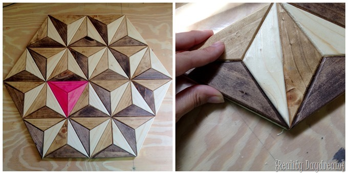 This 3D geometric piece of art was made out of ONE BOARD! {Reality Daydream}