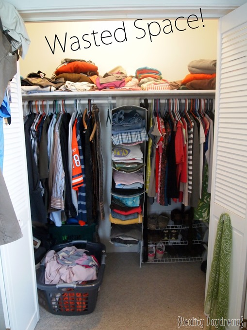 Diy custom closet shelving tutorial reality daydream - Diy closets for small spaces model ...