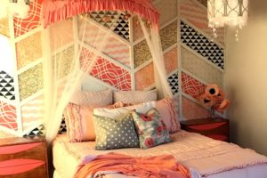 Papasan Chair frame turned Canopy over Bed!