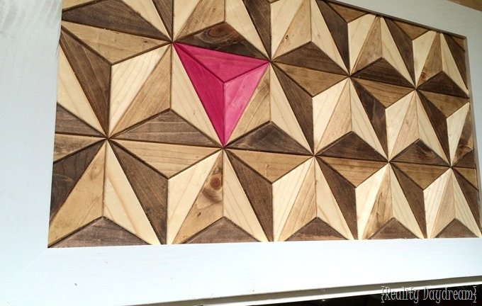 Wood Mosaic 3D Illusion Artwork