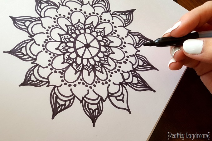 Adult Coloring Book inspired STAINED ART on a wood canvas