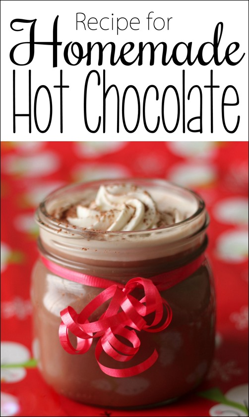 Homemade Hot Chocolate or Cocoa... simple recipe!