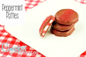 Peppermint Patties {Cupcakes with Sprinkles}