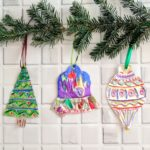 Embossed Metal Christmas Ornaments
