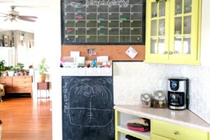 Chalkboard Wall Command Center – with Acrylic Calendar!
