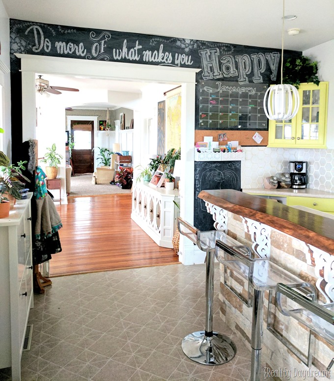 Command Center Chalkboard Wall... with acrylic plexiglass calendar! {Reality Daydream}