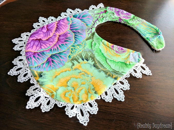 Make a drool bib for your baby or toddler by using an existing bib as a template! {Reality Daydream}