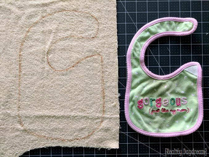 Make super cute bibs using an old ugly bib as a template! {Reality Daydream}