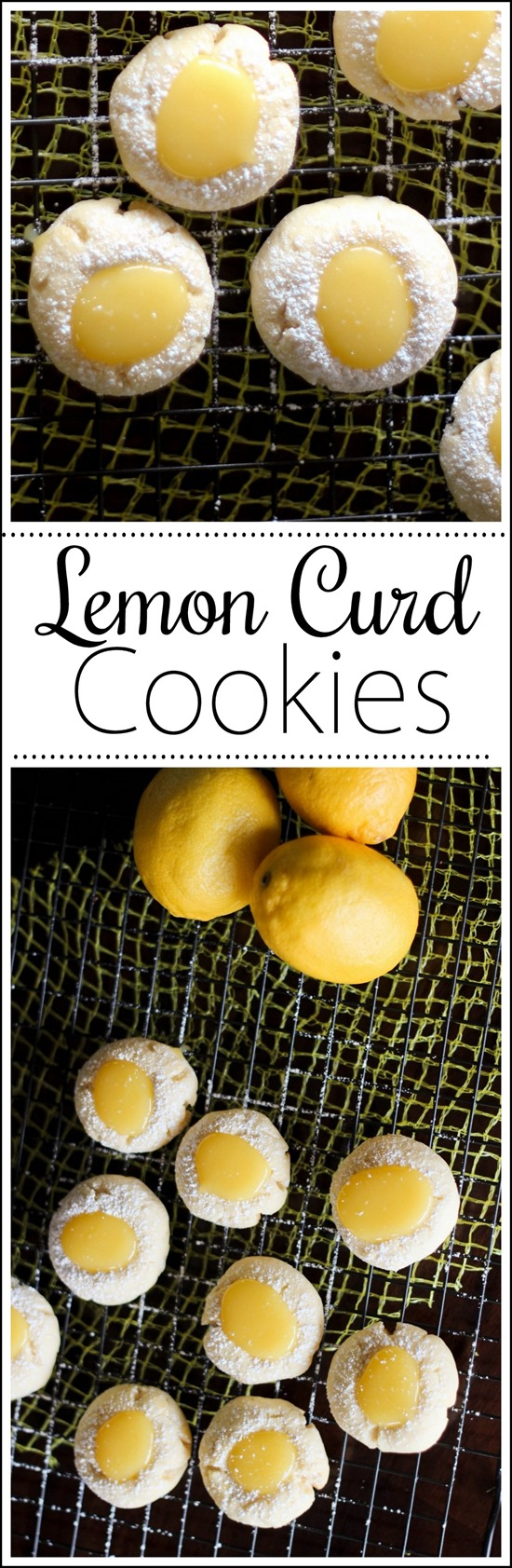 Recipe for Lemon Curd Cookies #Lemon #Zest