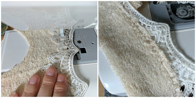 TUtorial for sewing lacey drool bib for baby or toddler {Reality Daydream}