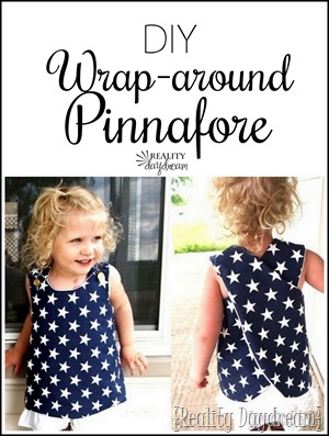 Wrap around dress or pinnafore pattern... a super simple sewing tutorial! {Reality Daydream}
